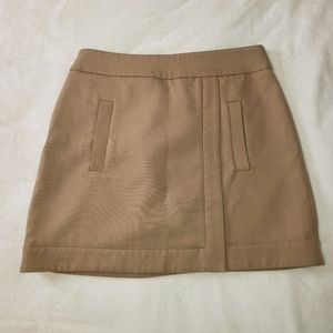 Zara Basic Tan Mini Skirt Size Medium